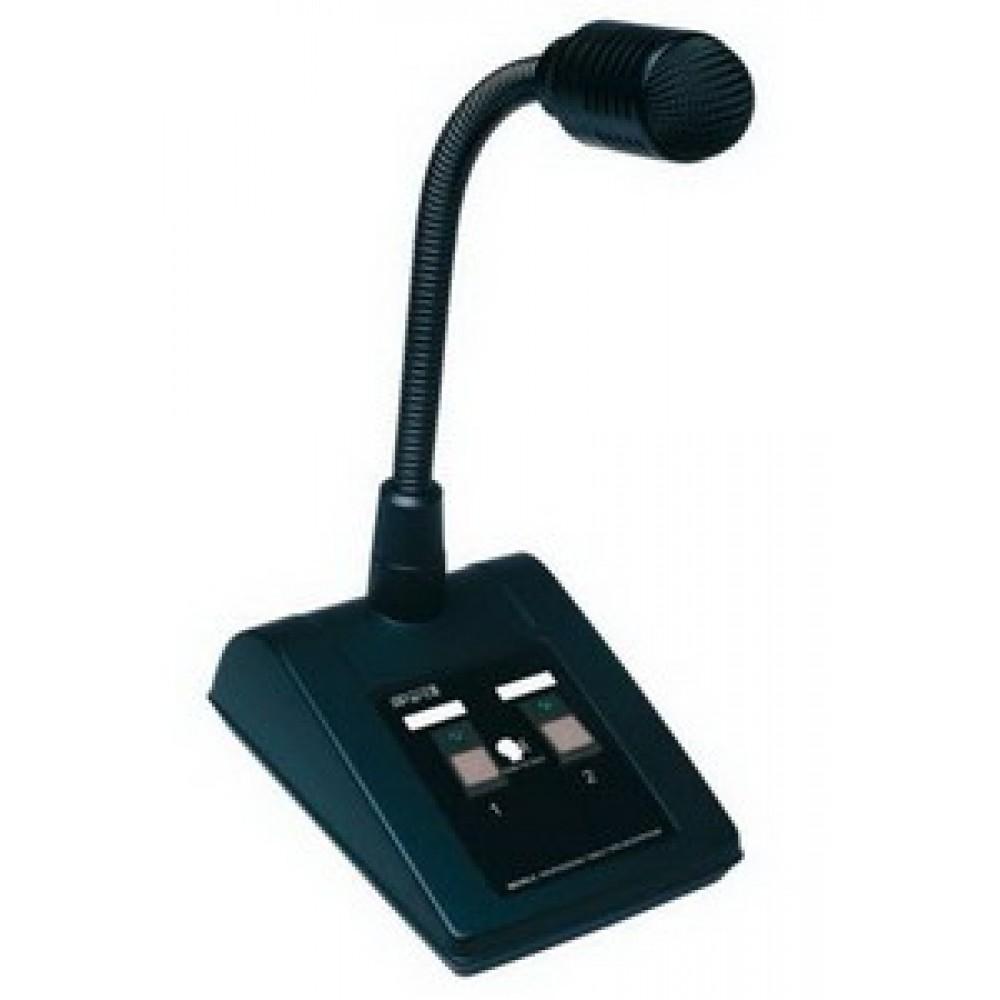 """""""APart MICPAT-2"""" - 2-х зонная, вызывная консоль с динамическим микрофоном. Индикация зон"""